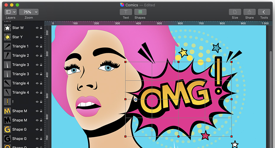 Vectoshaper is a Vector-Based Approach to Creating Graphics on the Mac Image